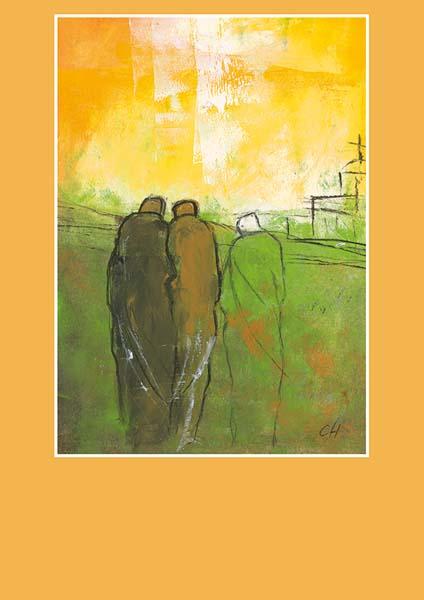 Pfarrbriefmantel - Goldener Himmel über unseren Wegen