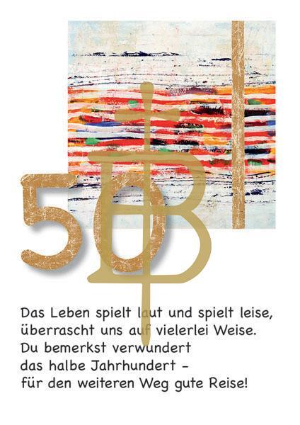 Klappkarte - Runder Geburtstag 50