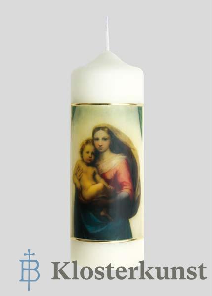 Kerze - Maria mit Kind